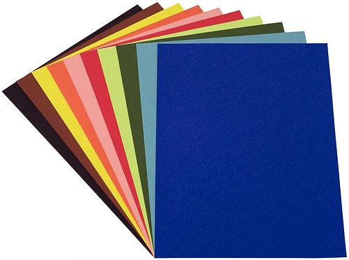 Paquet de 250 feuilles à dessin de couleurs 50X65 120G