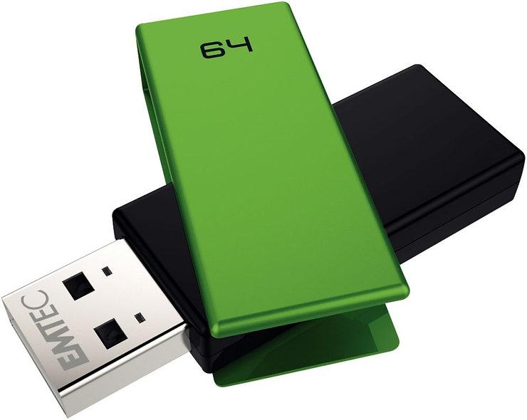 Clé USB Emtec Brick 2.0 C350 64 go vert