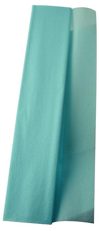 Paquet de 10 feuilles crépon supérieur 250x50  bleu turquoise