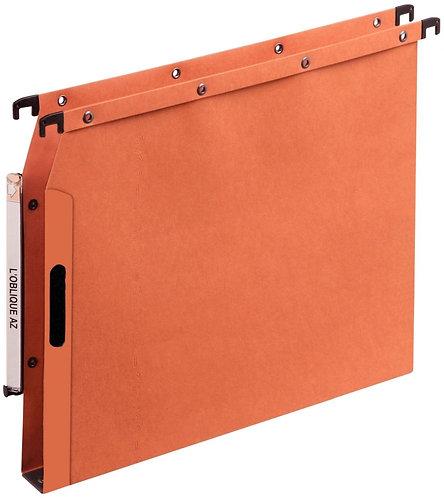 Paquet de 25 dossiers velcro V dos 30mm orange