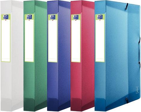 Boite de classement en polypropylène 2ND LIFE, dos 40 mm, coloris assortis