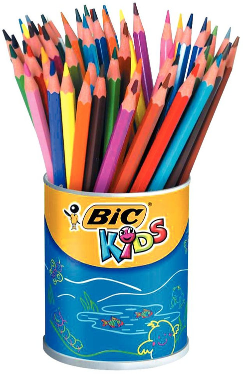 Pot de 60 crayons de couleur Evolution couleurs assortis