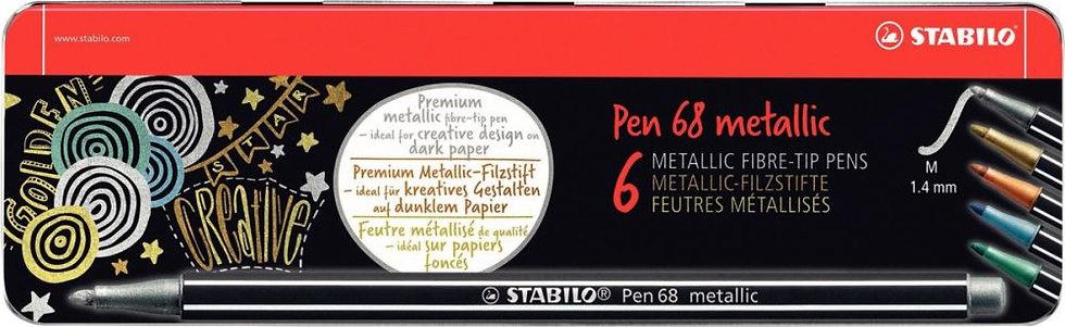 Boite de 6 feutres pen68 métal