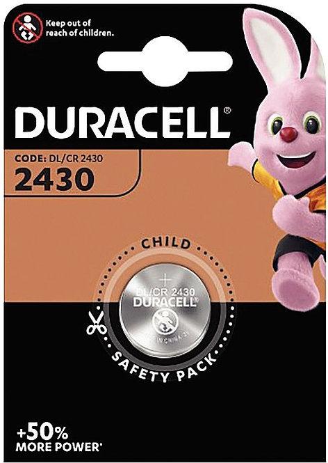 Blister de 1 Pile Lithium 3V CR2430 à la marque DURACELL