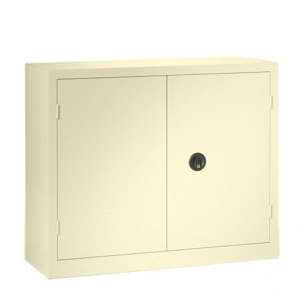 Armoire basse métal portes battantes