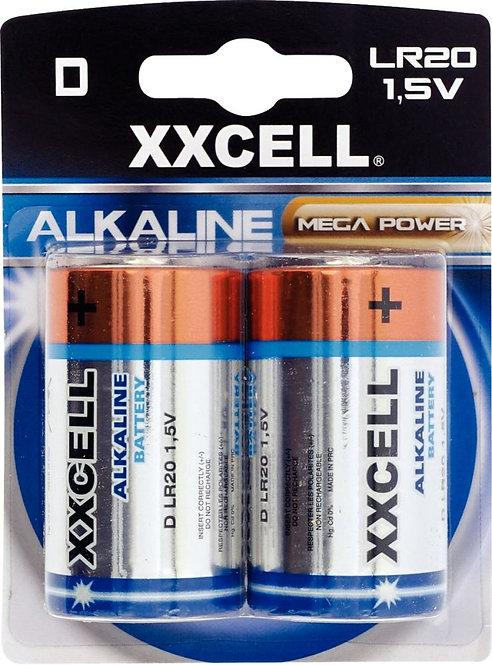 Blister de 2 piles 1.5V LR20 XXCELL