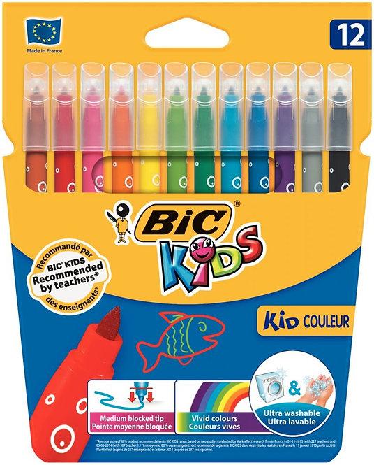 Etui de 12 feutres Kid couleurs pointe moyenne
