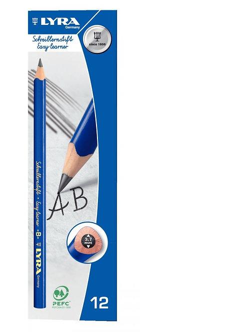 Boite de 12 crayons graphite B d'initiation à l'écriture
