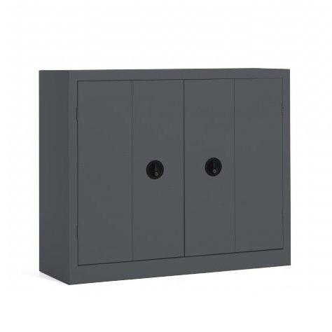 Armoire basse métal portes pliantes