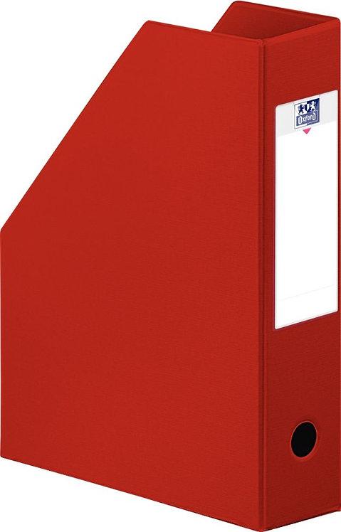 Boite de classement en PVC à pan coupé dos 10 cm rouge