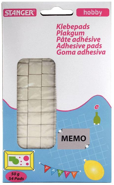 Blister de 54 pastilles pré-découpées de pâte adhésive blanche