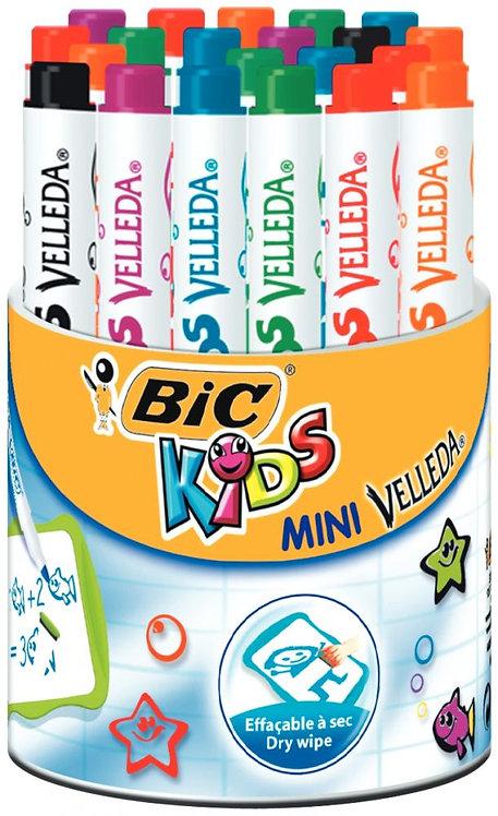 Pot 24 mini feutres Velleda kids 6 couleurs assorties