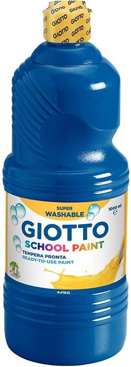 Flacon de 1L de gouache liquide lavable GIOTTO, bleu foncé
