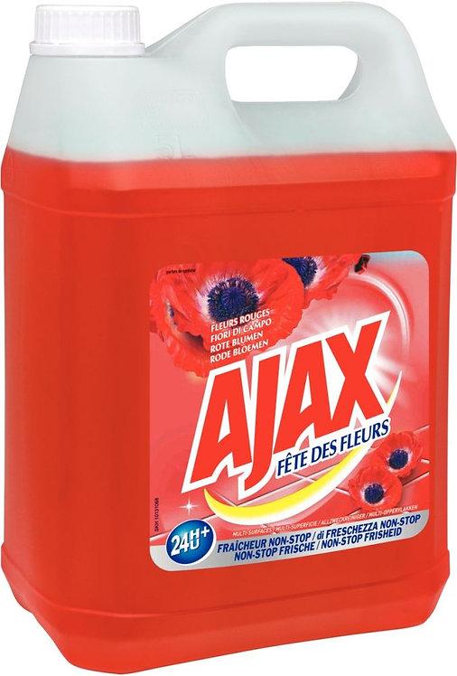 Bidon 5 litres détergent multi-usages senteur fleurs rouges