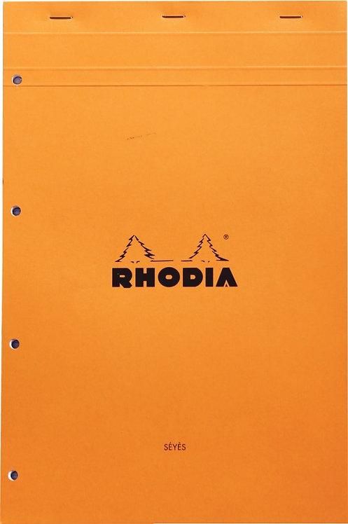 Bloc bureau RHODIA  A4+ seyès 80 feuilles perforées 4 trous et détachables