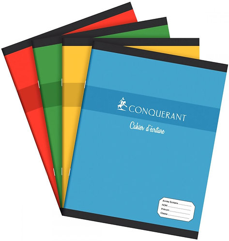 Cahier d'apprentissage piqûre 32 pages 17 x 22 cm réglure maternelle séyès 3 mm