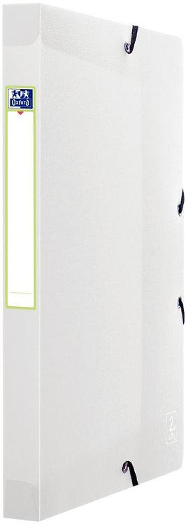 Boite de classement en polypropylène 2ND LIFE, dos 25 mm, incolore