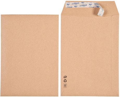 Boîte de 500 sacs Kraft, 90 grammes en format 17x25, bande siliconée