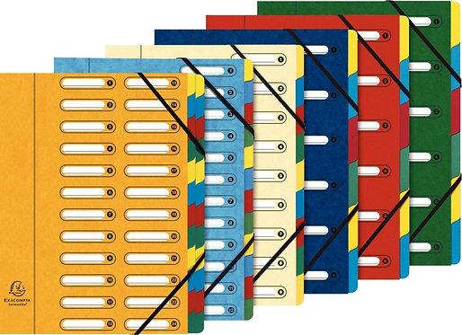 Trieur en carte lustrée à fenêtre découpées à 6 compartiments