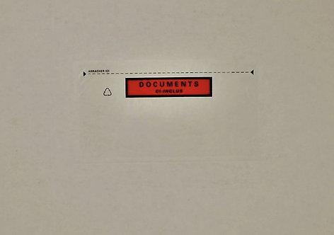 Boîte de 100 pochettes expédition auto-adhésives documents ci-inclus 228x120mm