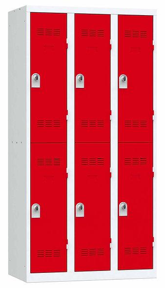 Vestiaire multicases - 3 colonnes - 2 cases