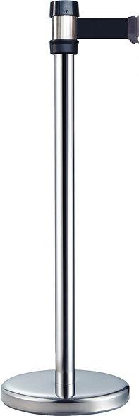 Poteau de guidage en métal avec sangle noir 2M