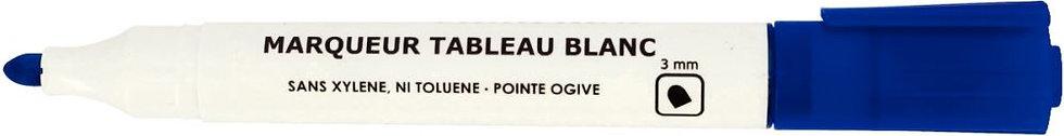 Marqueur tableau blanc pointe ogive 3mm bleu