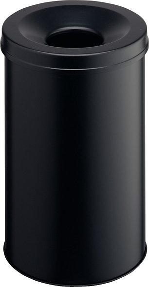 Corbeille à papier anti-feu 30 litres noir