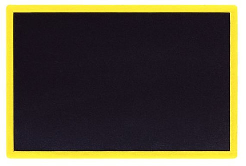 Ardoise écolier cadre plastique, qualité supérieure 16x24 cm