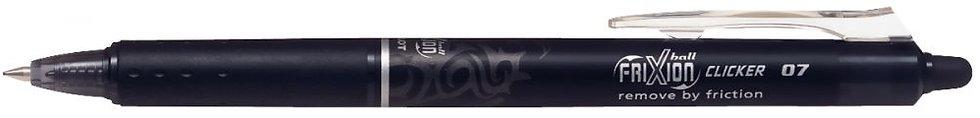Roller effaçable Frixion Clicker rétractable noir