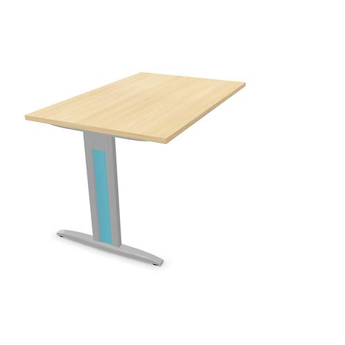 Retour  pour table de bureau HARRY - Piétement Gris aluminium
