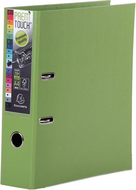 Classeur à levier en plastique PREM'TOUCH format A4 maxi dos 8 cm vert anis