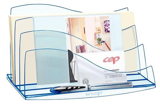 Trieur vertical 3 compartiments Ice Blue transparent