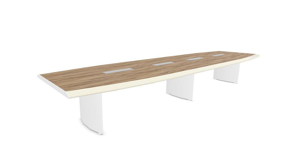 Table de conférence KORTA L. 500 cm - Piétement Blanc