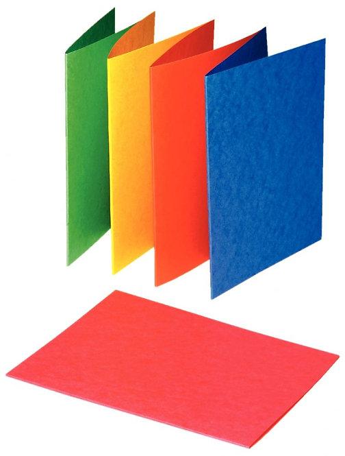 Paquet de 25 chemises rigides en carte lustrée 225g 24x32cm coloris assortis