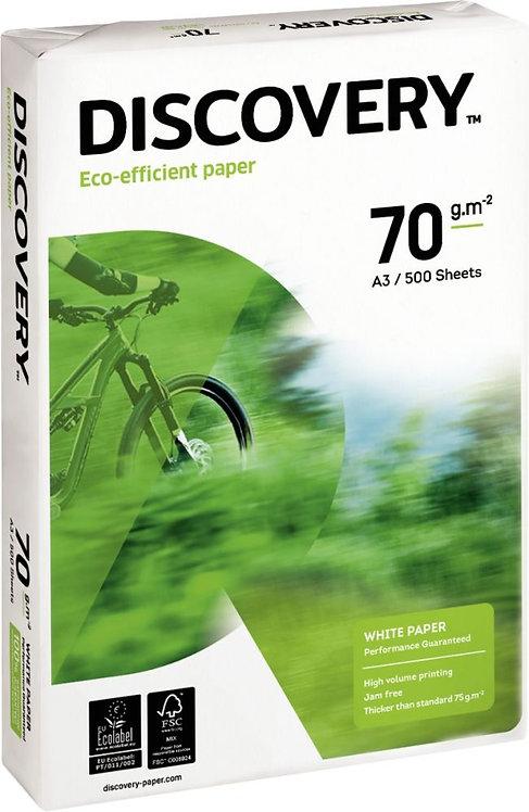 Rame de 500 feuilles de papier blanc 70g de format A3 DISCOVERY