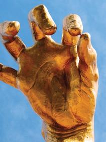 Giant Golden Hand