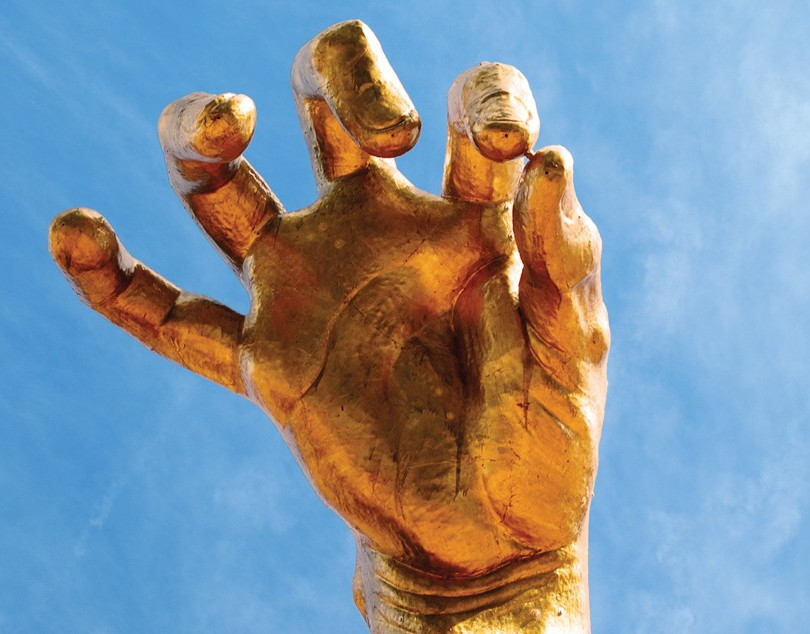 Giant Golden Hand
