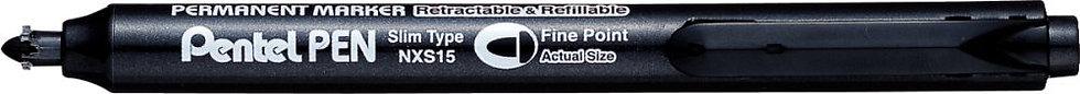 Marqueur permanent rétractable NXS15 noir