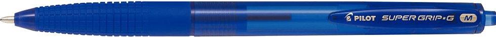 Stylo bille supergrip G rétractable pointe moyenne bleu