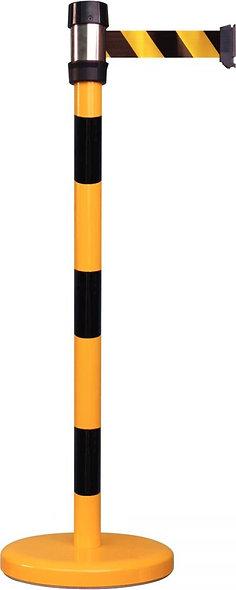Poteau de guidage sécurité avec sangle noir/jaune2,30M