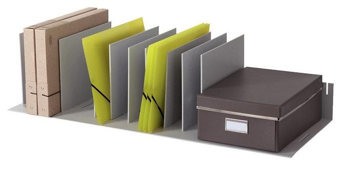 Trieur à séparateurs amovibles 10 cases gris