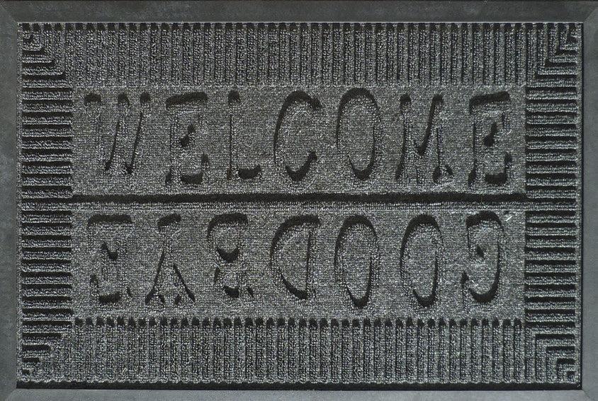 Tapis de sol aiguilleté & caoutchouc WELCOME/GOODBYE