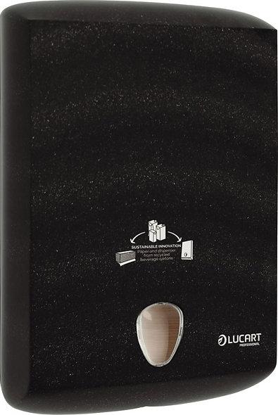 Distributeur d'essuie-mains recyclé noir