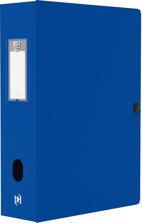 Boite de classement MEMPHIS en polypropylène, dos de 80 mm, coloris bleu