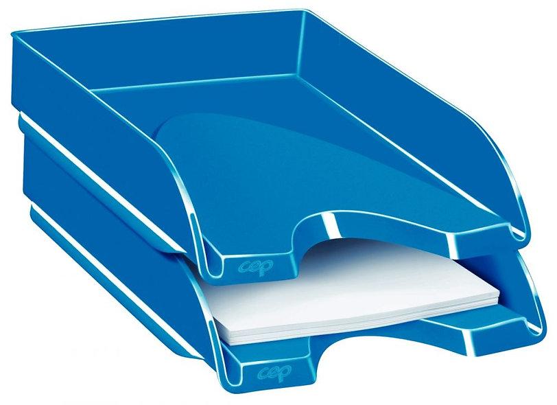 corbeille courrier fond plein ceppro gloss bleu ocean
