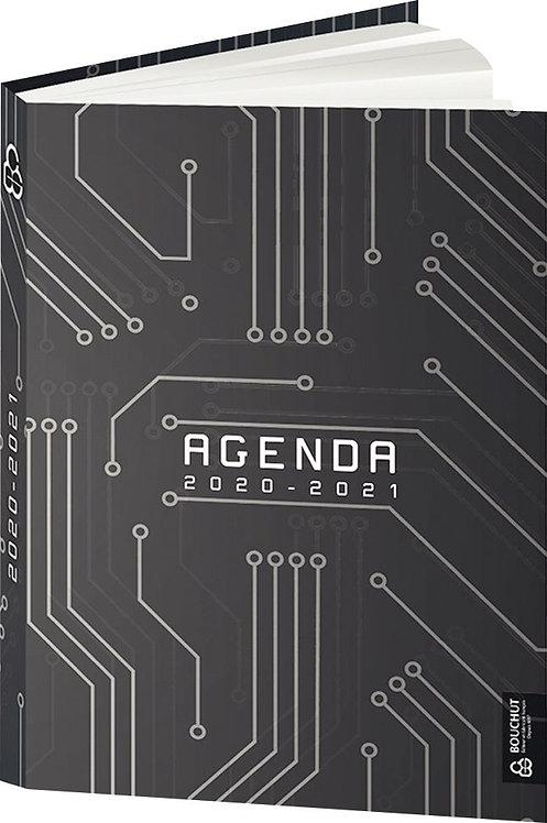 Agenda de poche Techno gris