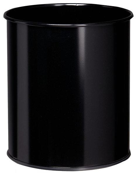 Corbeille à papier métal 30 litres noir