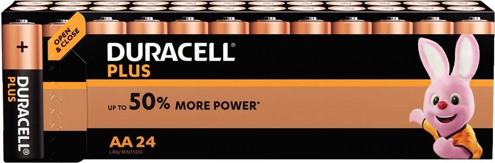 Blister de 24 Piles 1.5V LR06 alcaline DURACELL à la marque PLUS POWER