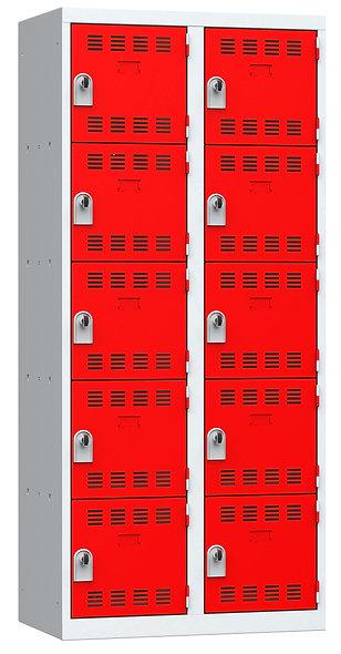 Vestiaire multicases - 2 colonnes - 5 cases